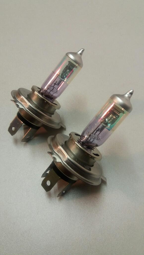 Pair H4 12v 100/90w Purple Xenon bulbs