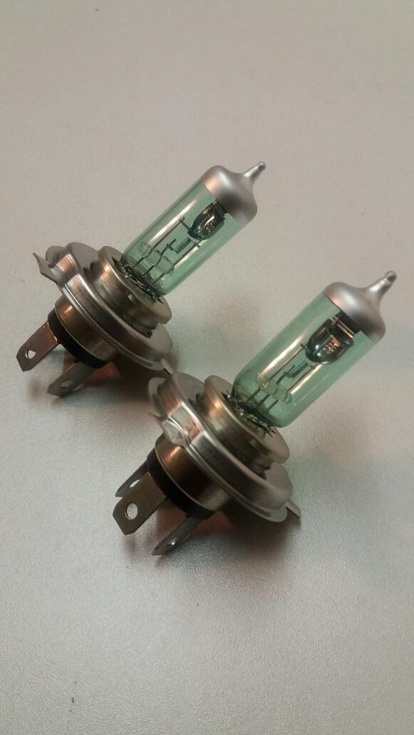 472 H4 12v 60/55w Xenon Geeen White Bulbs