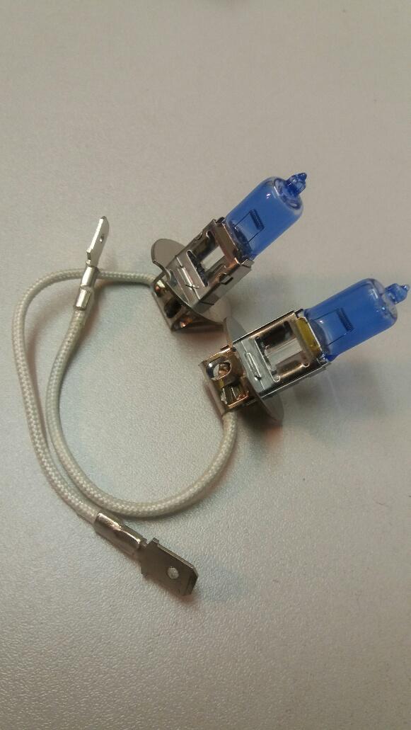 453 H3 12v 55w Xenon super blue bulbs