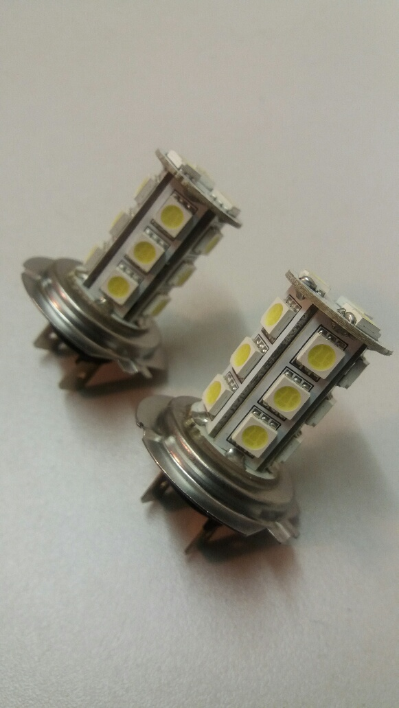 H7 12v 18 LED Bulbs